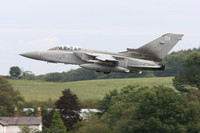 RAF Tornado F3 ZE728 performs missed approaches at Halfpenny Green